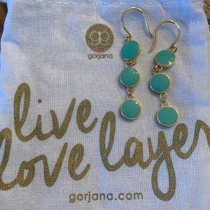 Gorjana Enamel Teal Earrings
